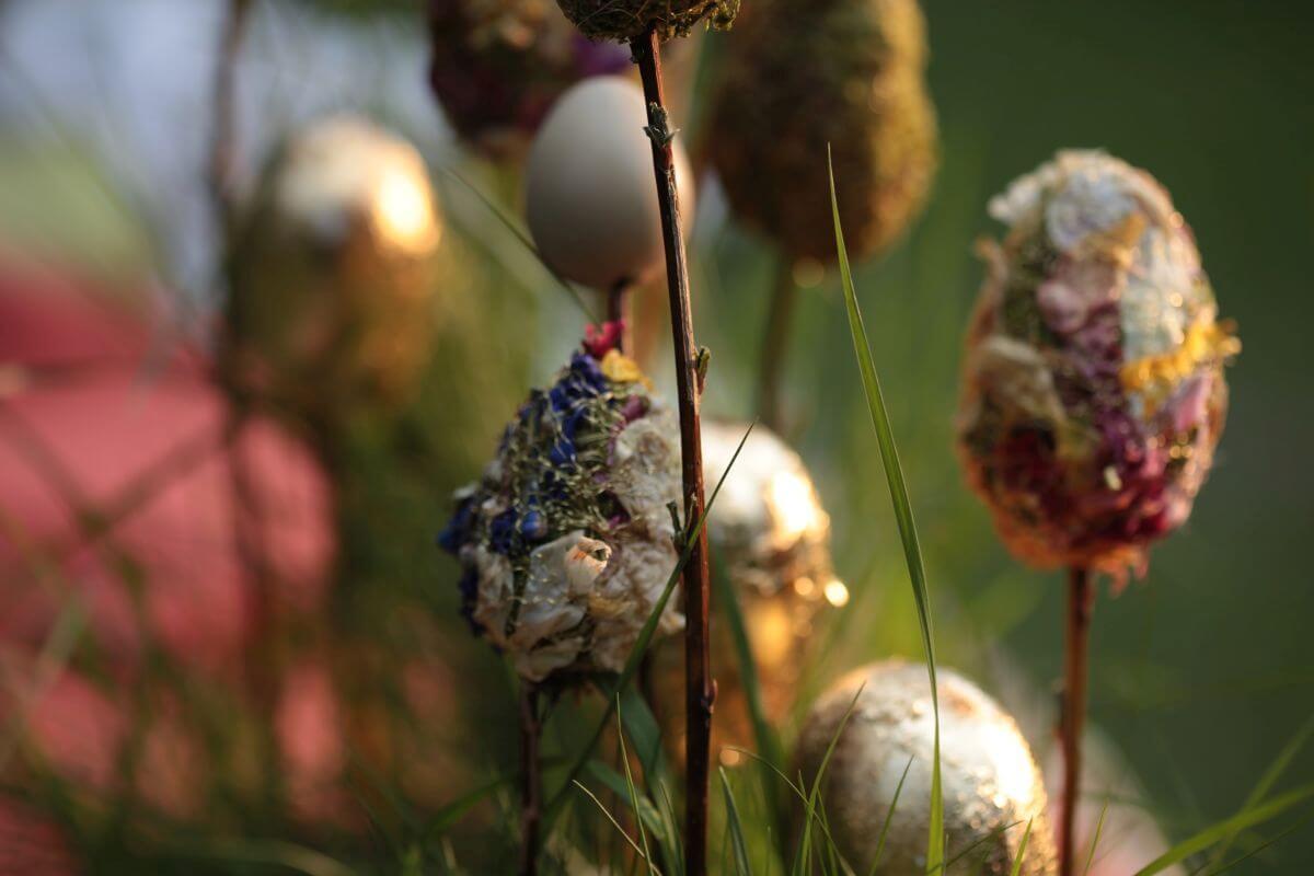 Selbstgemachte Blüteneier