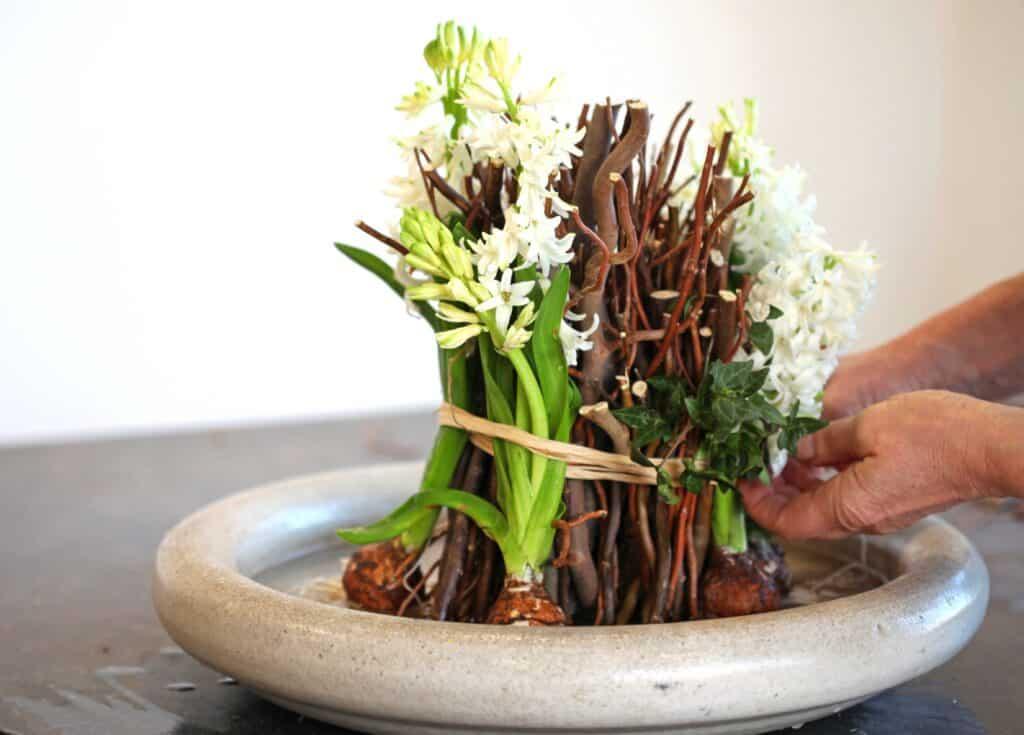 Weiden-Blumen-Bündel